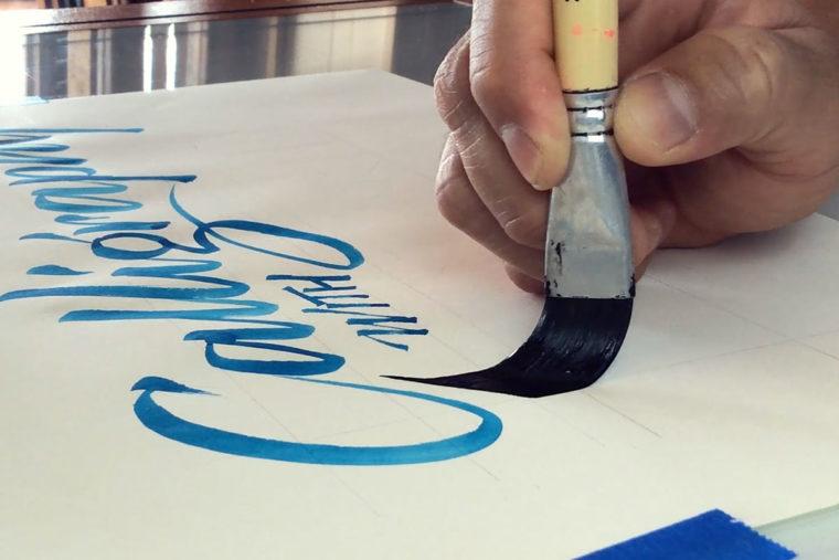 Calligraphy with Brush 3