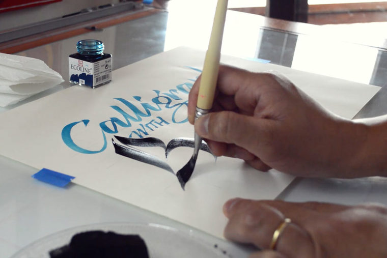 Calligraphy with Brush 4