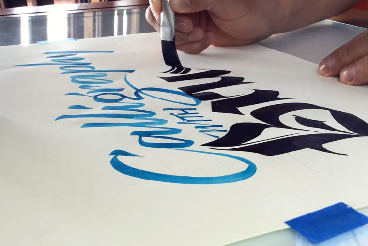 Calligraphy with Brush 5