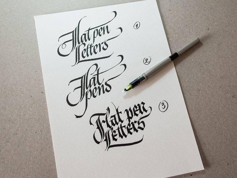 Flat Pen Letters 4