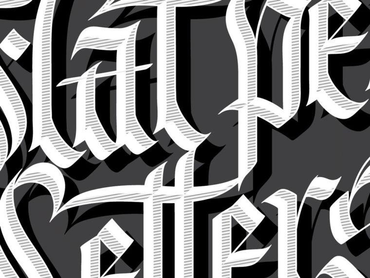 Flat Pen Letters 7